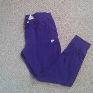 Purple Nike Joggers XL